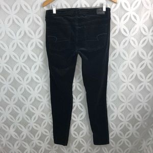 American Eagle Outfitters Pants - AEO Velvet Super Stretch Black Jeggings